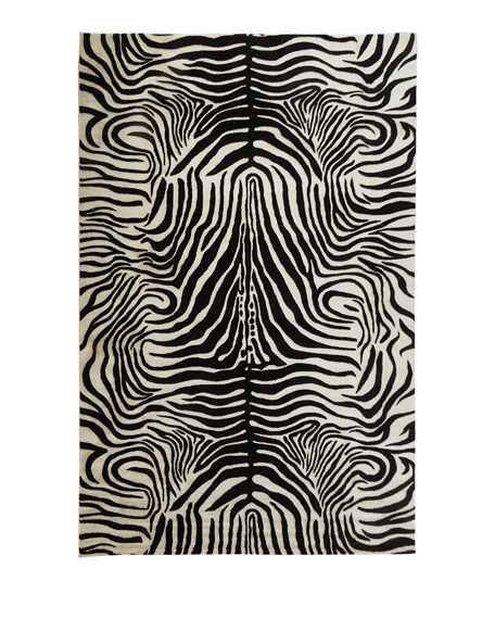 NourCouture Dariya Power-Loomed Zebra Rug, 7.9' x 10'