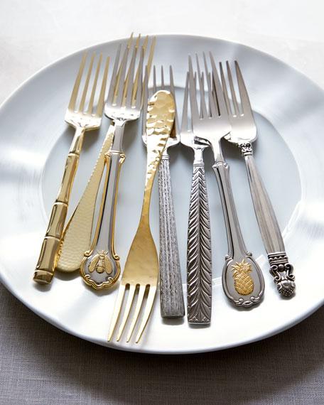 45-Piece Golden Pineapple Flatware