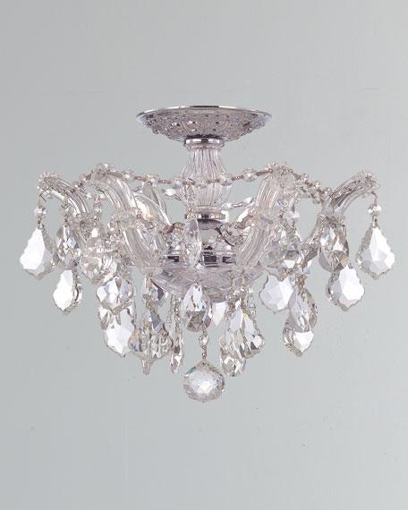 Crystorama Maria Theresa Hand-Cut 3-Light Clear Crystal Semi Flush