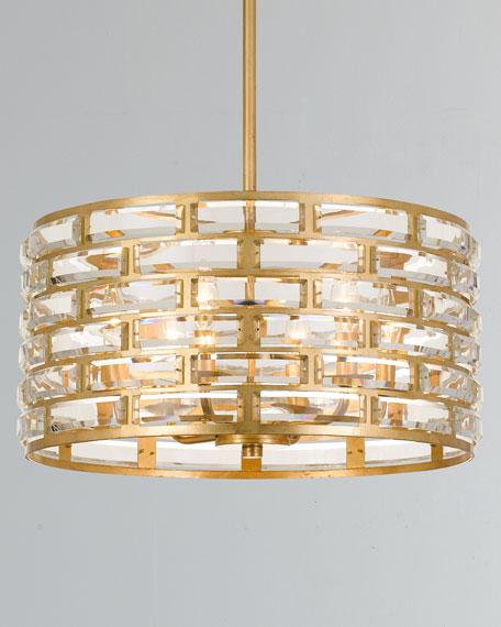 Meridian 6-Light Antiqued Gold Chandelier