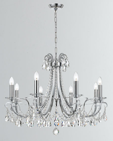 Othello 8-Light Clear Crystal Polished Chrome Chandelier