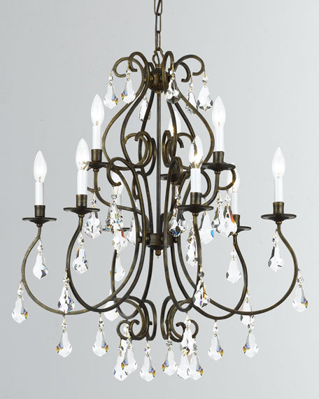 Crystorama Ashton 9-Light English Bronze Chandelier