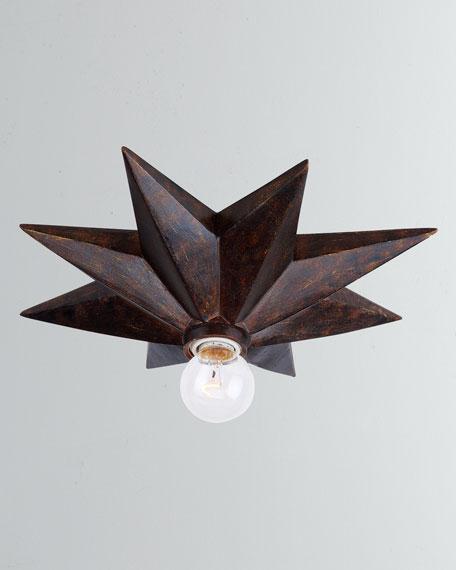 Crystorama Astro 1-Light Bronze Sconce