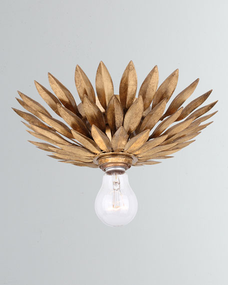 Image 1 of 2: Crystorama Broche 1-Light Antiqued Gold Sconce
