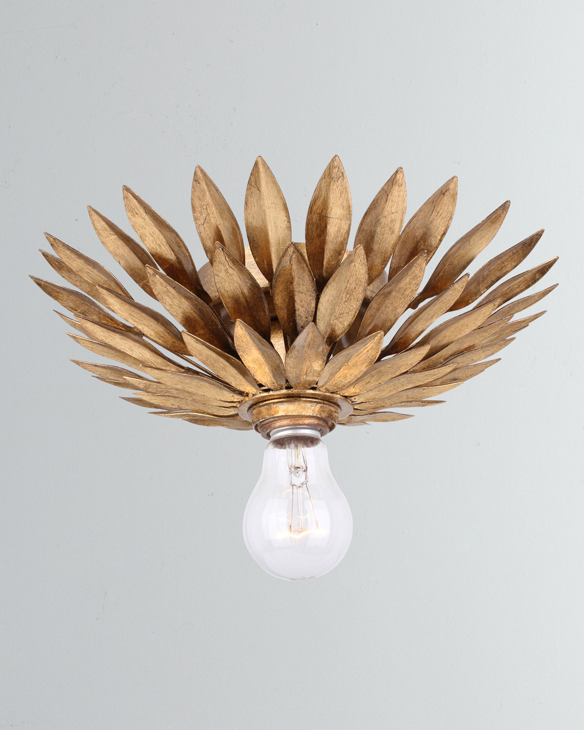 Crystorama Broche 1-Light Antiqued Gold Sconce