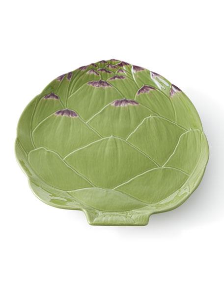 "Bordallo Pinheiro Artichoke Platter, 13.5"""