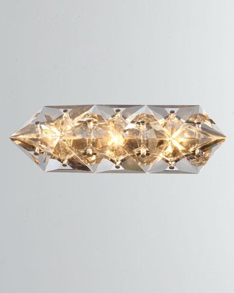 Crystorama Collins 3-Light Polished Chrome Bathroom Vanity