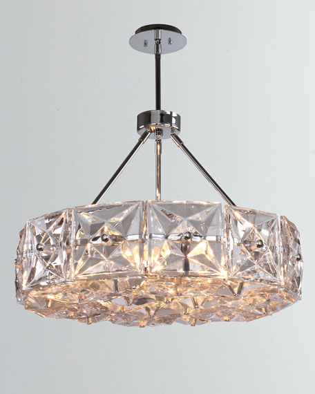 Crystorama Collins 6-Light Polished Chrome Chandelier