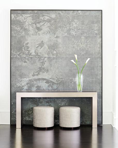 Bernhardt Decorage Steel & Oak Console Table