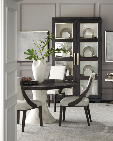 Bernhardt Pair of Decorage Curved Back Dining Side Chairs