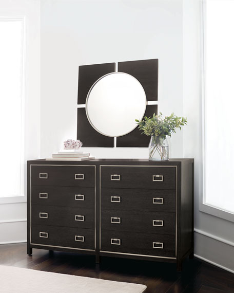 Bernhardt Decorage 4-Panel Round Mirror and Matching Items