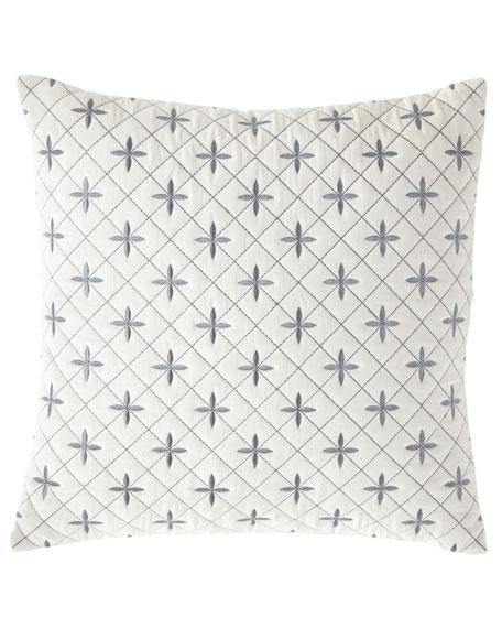 Callisto Home Darboux Embroidered Velvet Decorative Pillow