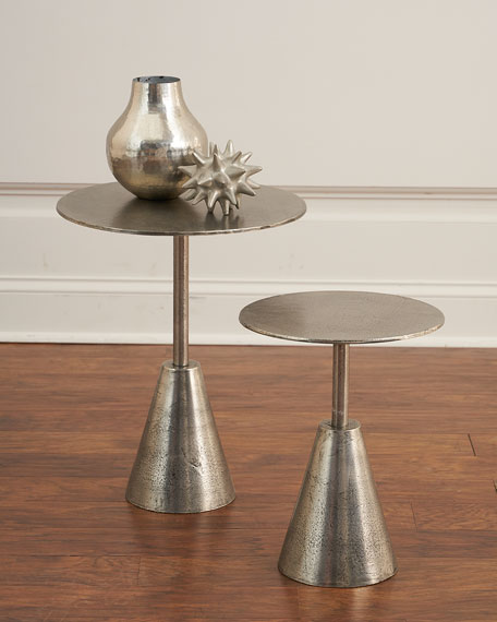 Pair of Yardley Metallic Martini Tables