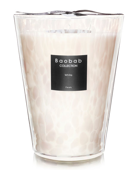 Baobab Collection White Pearls Candle, 9.4""