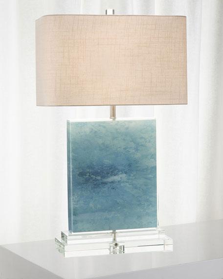 John-Richard Collection Ocean Canvas/Acrylic Table Lamp