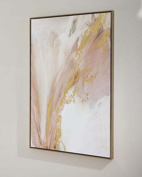 """Heart Blossom"" Handmade Giclee Wall Art on Canvas"