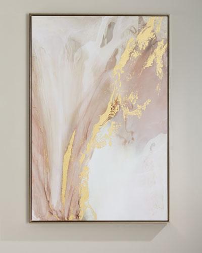 Heart Blossom Handmade Giclee Wall Art on Canvas