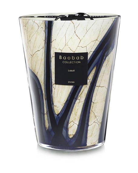 "Baobab Collection Stones Lazuli Candle, 9.4"""