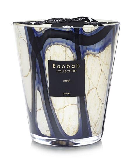 "Baobab Collection Stones Lazuli Candle, 6.3"""
