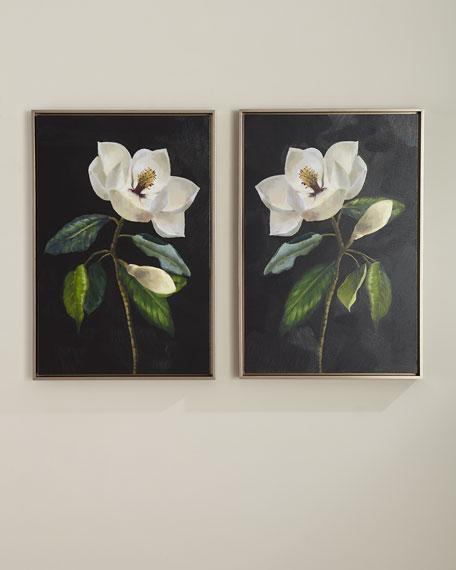"""Magnolias"" Giclee Wall Art, Set of 2"