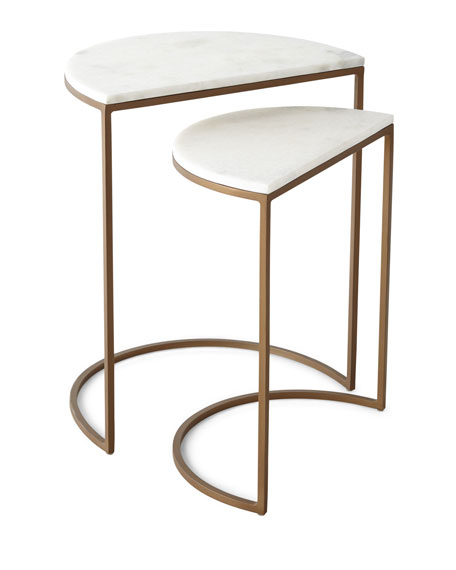 Image 2 of 2: Metta Marble-Top Nesting Tables