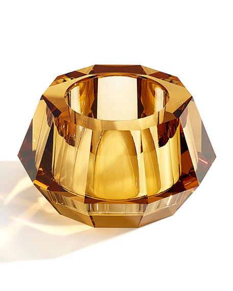 Atelier Swarovski Round Crystal Votive Candleholder, Topaz