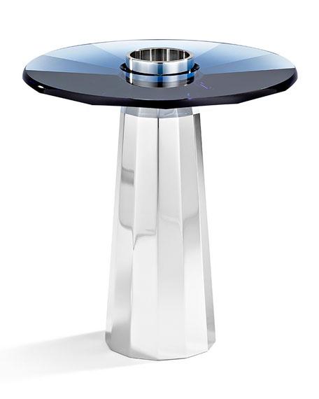 Atelier Swarovski Small Plinth Candleholder, Montana Blue