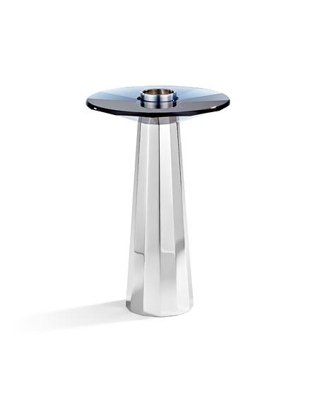 Atelier Swarovski Medium Plinth Candleholder, Montana Blue