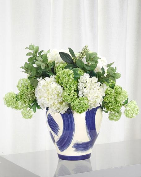 NDI Hydrangea Snowball Floral Arrangement