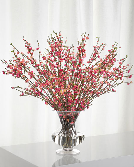 NDI Cherry Blossom Arrangement in Glass Urn