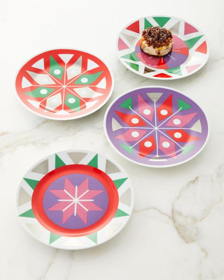 Neiman Marcus Holiday Plates, Set of 4