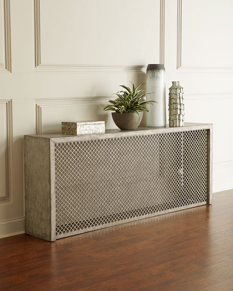 Hooker Furniture Barbara Linen Wrapped Console