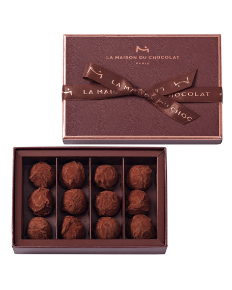 La Maison Du Chocolat 12-Piece Dark Chocolate Truffles Box