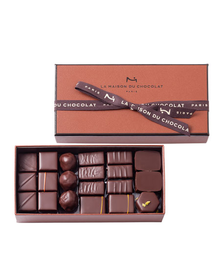 La Maison Du Chocolat 40-Piece Coffret Maison Dark Chocolate Box