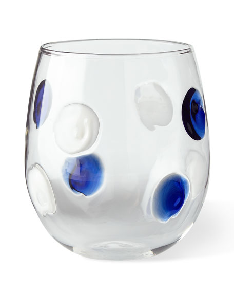 Vietri Dot Stemless Wine Glasses, Set of 2