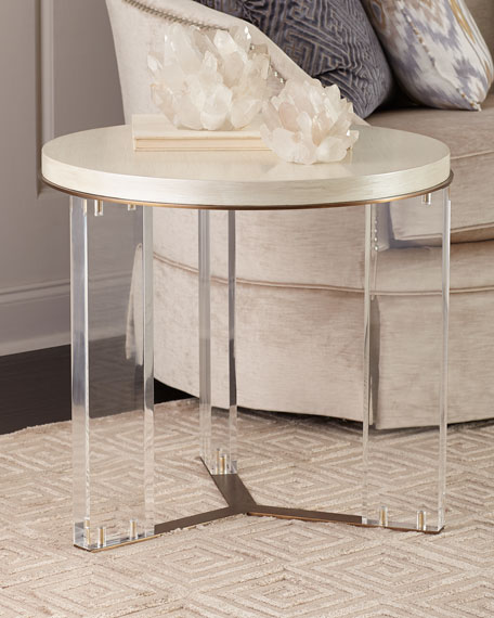 Ambella Malone Acrylic-Leg Side Table