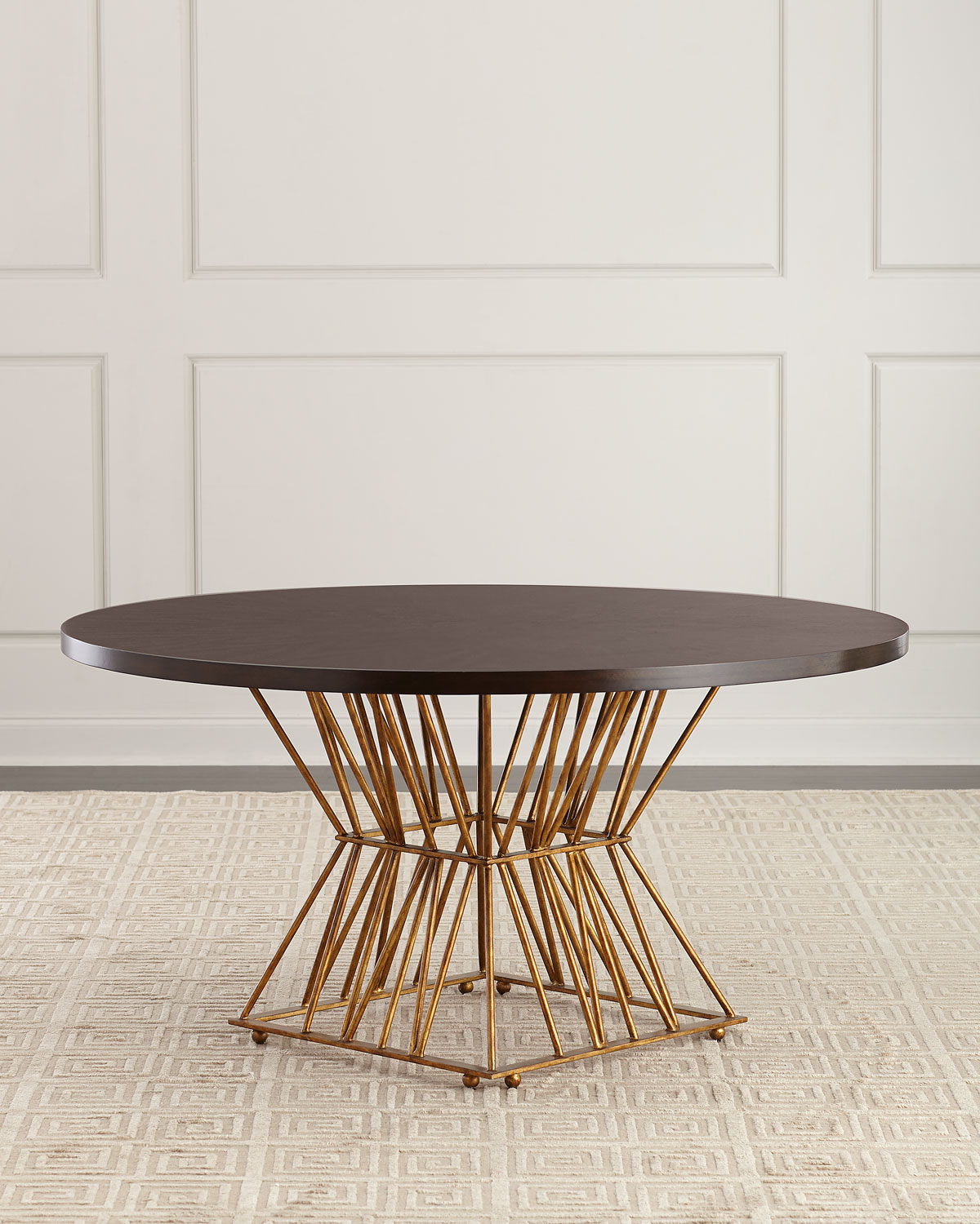 Ambella Eiffel Gold Base Dining Table