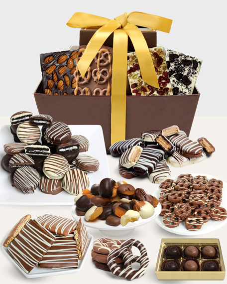 Chocolate Covered Company Artisan Crafted Belgian Chocolate Gift Basket