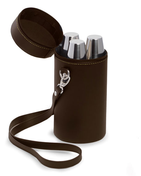 Bey-Berk 7-Piece Stainless Steel Flask Set