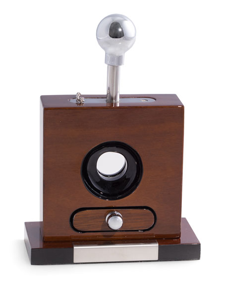 Bey-Berk Walnut-Wood Cigar Cutter