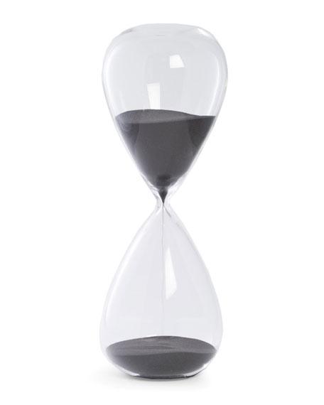Bey-Berk Hand-Blown 90-Minute Crystal Sand Timer Hourglass