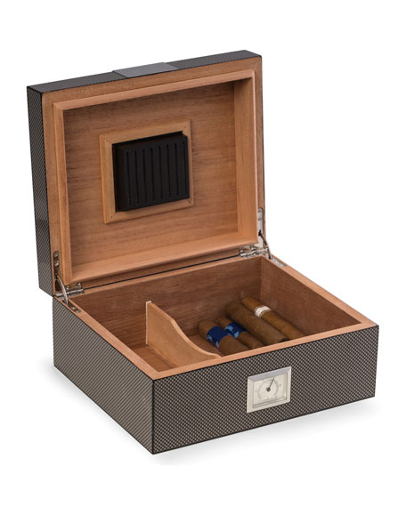 Bey-Berk Carbon Fiber Cigar Humidor