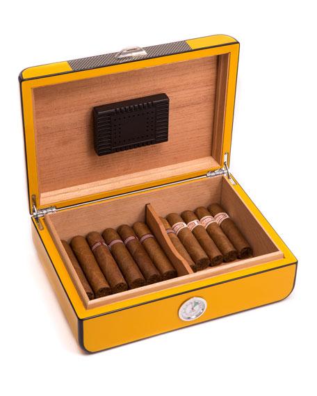 Bey-Berk Carbon Fiber Lacquered Cigar Humidor