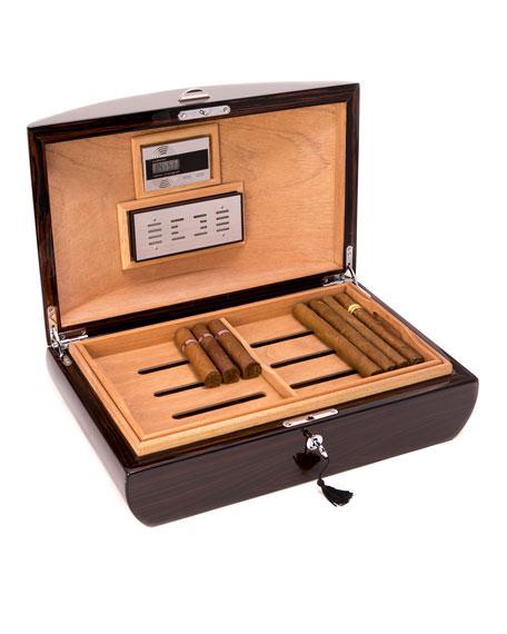Bey-Berk Ebony Wood Cigar Humidor