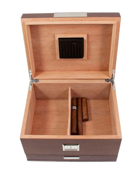Bey-Berk Walnut Wood Cigar Humidor