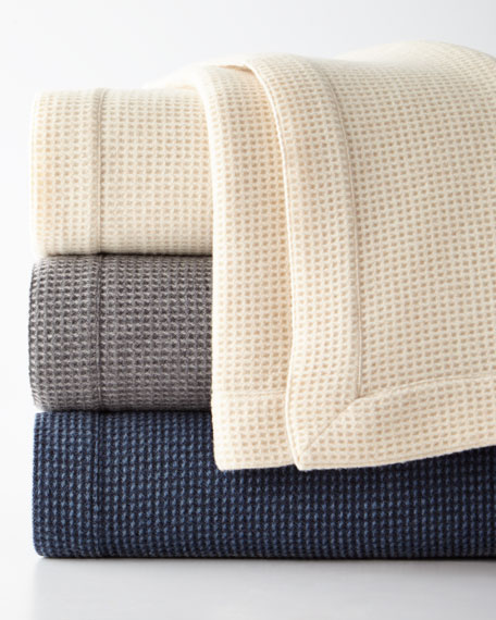 SFERRA Merino Wool Waffle Knit Full/Queen Blanket