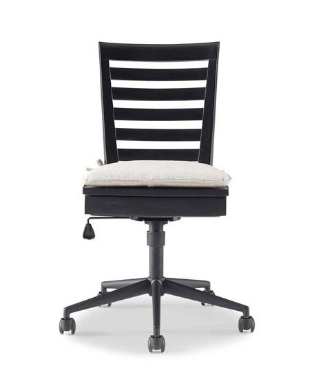 Charli Swivel Desk Chair with Storage