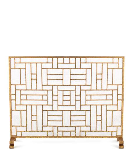 Asian Design Fireplace Screen
