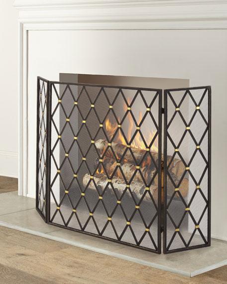 Diamond Design 3-Panel Fireplace Screen