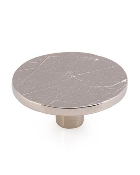 Michael Aram Forest Leaf Round Knob - Nickel Plate
